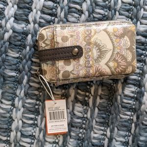 Sak Roots Zipper Crossbody Phone Holding Wallet